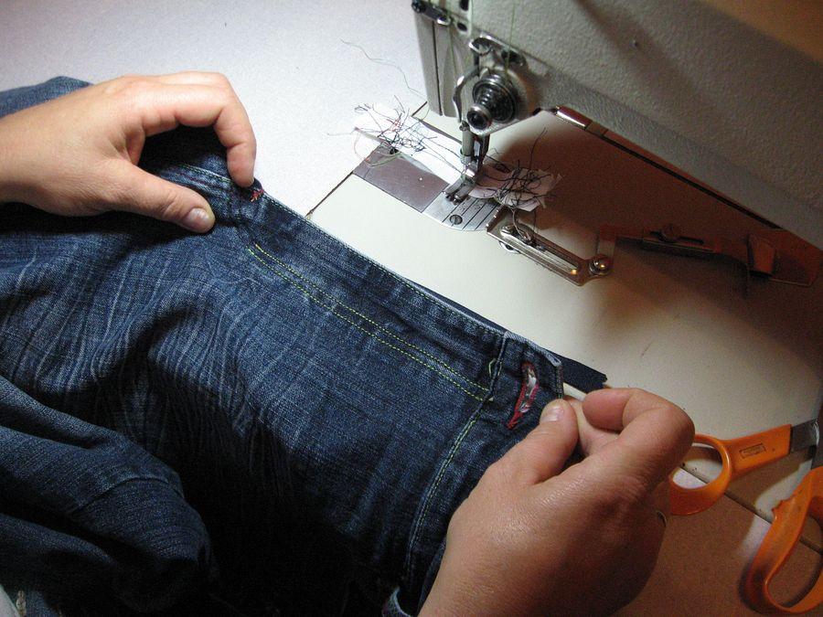 női nadrág cipzár varrása