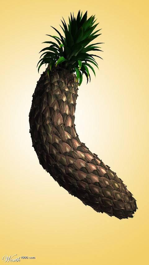 Photoshop gyümölcs: banán-ananász
