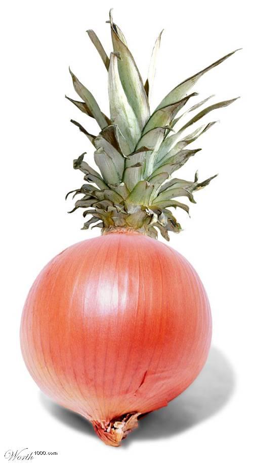 Photoshop gyümölcs: hagyma-ananász