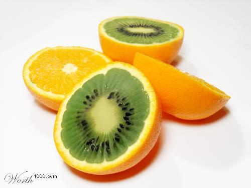 Photoshop gyümölcs: narancs-kiwi