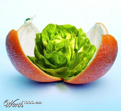 Photoshop gyümölcs: narancs-saláta