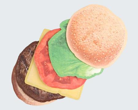 Szokatlan söralátét - hamburger
