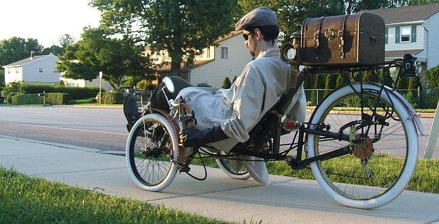 Steampunk bringa használat közben