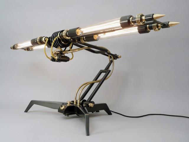 Steampunk lámpa