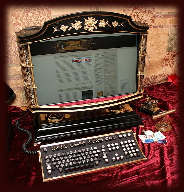 Steampunk komplett számítógép konfiguráció