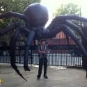 Óriás felfújható pók báb